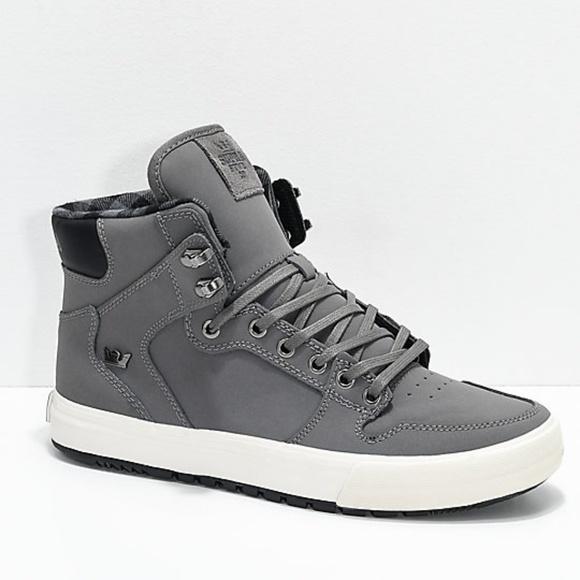 515b507d54 Supra Vaider CW Charcoal, White & Plaid Shoes. M_5c01d1fe409c157729b705b8